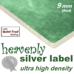 HEAVENLY SILVER 9mm Ultra High Density Carpet Underlay